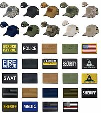 Tactical Military Operator Cap Cotton Hat Velcro Hook Loop for Patch Rapdom T75