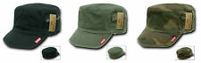 BDU Military Fatigue Jeep Caps w/Zipper Pouch French Brim Cap Hat Rapdom 35A