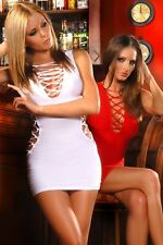 Party Mini Dress GoGo sexy Lacing Openings Clubwear Stretch dress 3 Colors