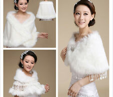 5 style Ivory Faux Fur Bride Wedding Shawl Wrap Shrug Bolero Coat Stole Jacket