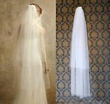 New Style 2-Tier Ivory / White Soft Bridal Wedding Bride veil +comb Fingertip