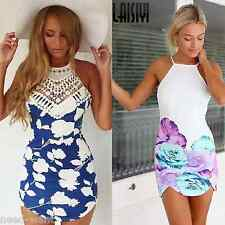 UK Womens Celeb Sexy Floral Lace Summer Beach Bodycon Mini Party Jumpsuit Dress