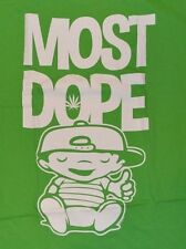 Mac Miller MOST DOPE Green Logo Style T-Shirt Mens Tee Size XL
