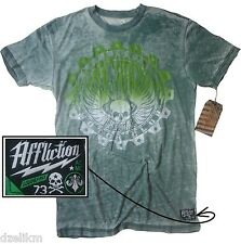 NWT Affliction Crew Neck Tee Graded Short Sleeve 50/50 T-Shirt