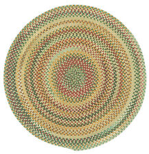 Capel Rugs Sherwood Forest Wool Country Braided Area Round Rug Wheat #150