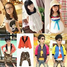 [SALE] Baby Kids Girl Boy Top/Jacket/Dress/Outfit Set Suit Clothes One Piece 2-7