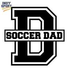 Soccer Dad Text with D - Custom Personalized Vinyl Sports Car Decal Sticker