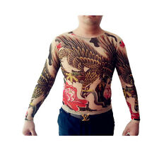 Tattoo Shirt Mesh Sleeves Temorary Arm Body Art  Sport T-Shirt Eagle ST-03