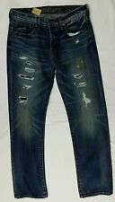 Mens Original Straight Jean 32x34 34x34 Medium Ultra Repair American Eagle