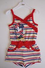 Size 3-6 Years Licensed Disney Minnie Mouse Red Stripe Girls Jumpsuit Playsuit