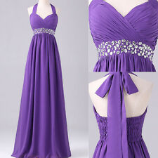 Women Halter Long Maxi Prom Gown Evening Cocktail Chiffon Party Wedding Dress
