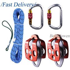 Professional Arborist Kit Set Pulley Rope Set with Prusik Loop for Tree Climbing