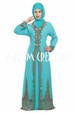 ELEGANT MODERN FANCY CAFTAN JILBAB ARABIAN WEDDING GOWN TAKCHITA DRESS  5529