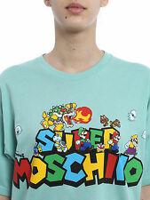 "SS16 MOSCHINO COUTURE BY JEREMY SCOTT SUPER MARIO ""SUPER MOSCHINO"" ALL SIZES TEE"