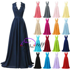 Stock New Chiffon Formal Prom Gowns Bridesmaid Party Cocktail Evening Dress 6-20