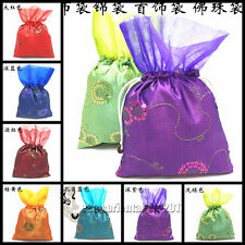 New China Vintage Embroiderd Silk Jewerly Pouch Handbag Pump package Gift Bag