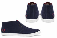 Men's Fred Perry BYRON MID SUEDE  Carbon Blue casuals B7400-266