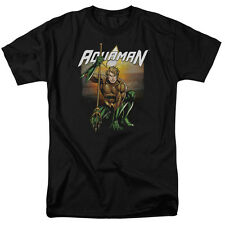 JUSTICE LEAGUE AQUAMAN BEACH SUNSET Licensed Men's Graphic Tee Shirt SM-5XL