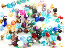 500Pcs Bicone Crystal Glass Loose Beads DIY Jewelry Findings 4mm Free Shipping