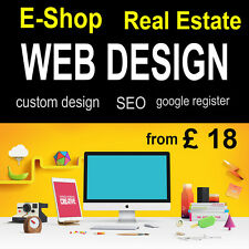 Bespoke Website, Web Design, E Shop Ecommerce Personal or Business
