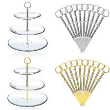 5-10pcs 3 Tier MINI Round Cake Plate Stand Handle Fittings Fruit Server Display