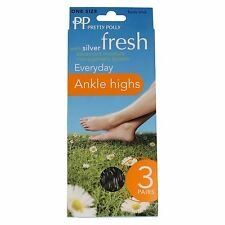 Ladies Pretty Polly Fresh Everyday Ankle Highs 3 Pairs
