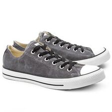 Mens Converse All Star Basic Washed Ox Black Trainers