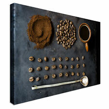 Coffee Beans Rustic Canvas Wall Art prints high quality