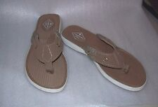 WOMENS ST.JOHNS BAY SAILOR TAN FLIP FLOPS NEW IN BOX MSRP$60