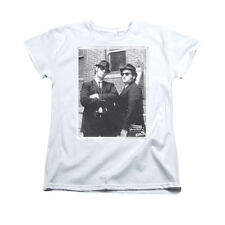 BLUES BROTHERS BRICK WALL Licensed Women's Graphic Tee Shirt SM-2XL