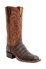 Lucchese HY5507 Womens Brown Caiman Crocodile Leather Western Cowboy Boots