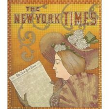 New York Times Newspaper Advertisement 1895 Vintage-Style Poster