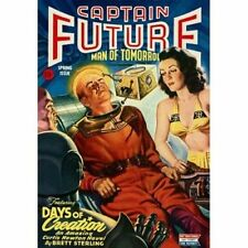 Vintage-Style Sci Fi Poster Captain Future Man Of Tomorrow Cover Art