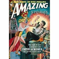 Vintage-Style Sci Fi Poster Amazing Stories Empire of Women Cover Art