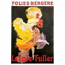 Jules Cheret Vintage-Style French Ad Poster Folies Bergere La Loie Fuller