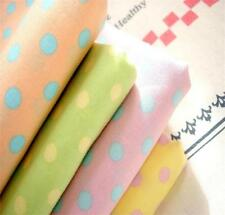"Japanese KOKKA ""CANDY PARTY"" Polka Dot Spotty Green Yellow Pink Cotton Fabric FQ"