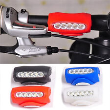 1pcs Cycling Bike Bicycle Silicone 7 LED Frog Front Head Light Rear Warning Lamp