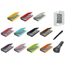 Wallet Case Folio Pouch Front Leather+LCD+Charger+Pen for iPhone 4 4G 4S