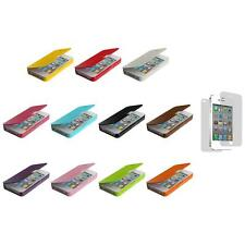 Wallet Case Folio Pouch Front Leather+3X LCD Protector for iPhone 4 4G 4S