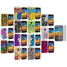 Design Hard Rubberized Cover Case+Screen Protector for Samsung Sprint Galaxy S2