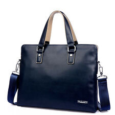 New Classic Men Leather Handbag Laptop Bag Briefcase Tote Shoulder Messenger Bag