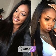 "Young Fashion Silky Straight full/front lace wig 100% Indian human hair 14""-22"""