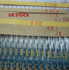 0.25W 1% Metal Oxide Film Resistors , Various Values / Quantities