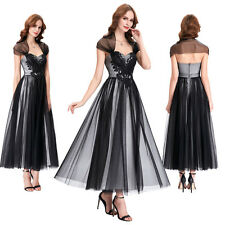 Long Soft Tulle Evening Formal Party Cocktail Dress Bridesmaid Prom Gown + Shawl