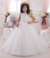 Formal Lace Baby Princess Bridesmaid Flower Girl Dress Party Communion Pageant G