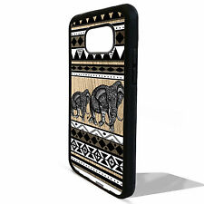 Cover for Samsung Galaxy S5 S6 S7 edge African Elephant aztec vtg pattern case