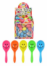 Mini Smiley Maracas Children's Party Bag Fillers Rattle Shaking Kids Toy UK Sell