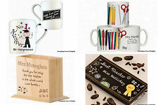 PERSONALISED Teacher Gifts For School College UNIVERSITY Head From Students