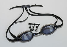 Professional Racing Prescription Swimming Goggles Black Minus Powers Adult Size