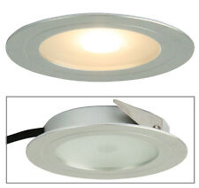 LED Cabinet Light Recessed Silver or White 2W in 3000K 7cm Magro Oriel Lighting